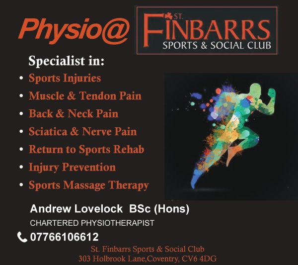 physio at Finbarrs